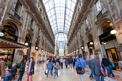 Buyer in trade Galleria Vittorio Emanuele II in Milan Stock Photos