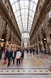 Buyer in trade Galleria Vittorio Emanuele II in Milan. Stock Photo