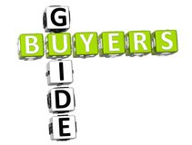 Buyers Guide Crossword Royalty Free Stock Photography
