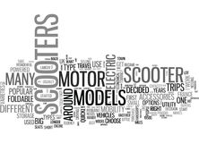 A Buyers Guide To Motor Scooters Word Cloud royalty free illustration