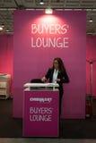 Buyers' lounge at Chibimart 2013 in Milan, Italy Royalty Free Stock Image
