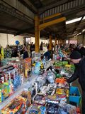 Buyers and sellers of all types of goods at Melton Mowbray carboot sales, Leicestershire Royalty Free Stock Photo