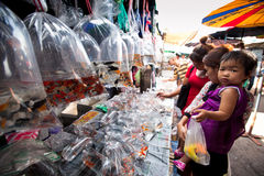 Buyers shop at Chatuchak Weekend Market Royalty Free Stock Images