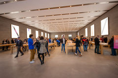 Buyers are shopping at Kurfuerstendamm Apple Store Stock Photography