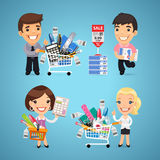 Buyers in Stationery Shop Stock Photography