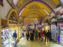 Buyers of t tourists on the Grandee Bazare in Istanbul. Stock Photography
