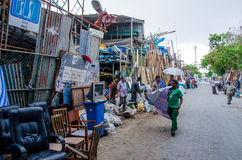 Buyers at the used things market place at Male. Maldives. Stock Photography