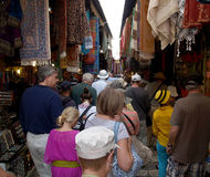 Buyers in the ware market in Jerusalem, Israel Royalty Free Stock Image