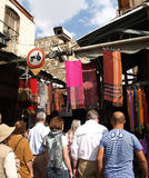 Buyers in the ware market in Jerusalem, Israel Royalty Free Stock Photos