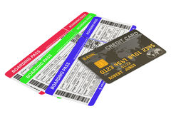 Buying air tickets concept. 3D Royalty Free Stock Photos