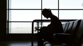 Buying airflight tickets online stock video
