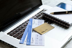 Buying Airline tickets Royalty Free Stock Photo