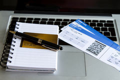 Buying Airline tickets Royalty Free Stock Images