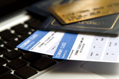 Buying Airline tickets Stock Photography
