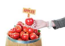 Buying Apples Royalty Free Stock Image