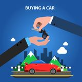 Buying A Car Concept Royalty Free Stock Image