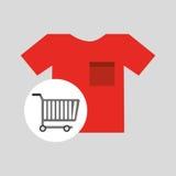 Buying cart tshirt clothing design. Vector illustration eps 10 Stock Images