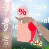 Buying cashless settlement photo background Royalty Free Stock Photos