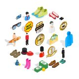 Buying clothes icons set, isometric style. Buying clothes icons set. Isometric set of 25 buying clothes vector icons for web isolated on white background Royalty Free Stock Photography