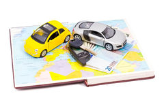 Buying a comfortable cars to travel Stock Photography