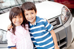 Buying a family car Stock Image
