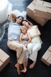 buying family floor house lying