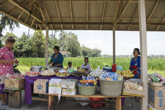 Buying food and beverage in Bali stock photography