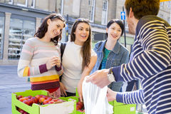 Buying Fresh Produce Royalty Free Stock Image