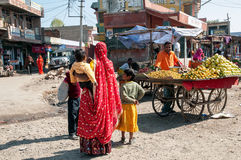 Buying fruit in Rajasthan Royalty Free Stock Photo