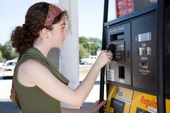Buying Gas Royalty Free Stock Photos