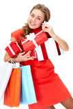 Buying gifts Stock Images