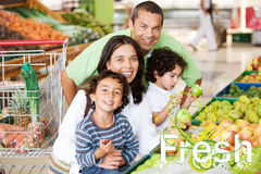 Buying groceries Stock Photo