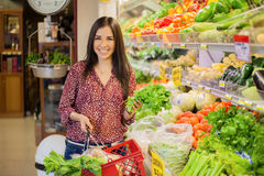 Buying healthy food at the store Stock Image