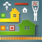 Buying a home loan vector illustration