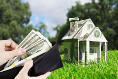 Buying home loans Stock Image