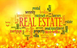 Buying home word cloud Stock Photo