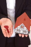 Buying a house royalty free stock image