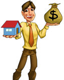 Buying a house Royalty Free Stock Photos