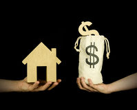 Buying a house Royalty Free Stock Photography