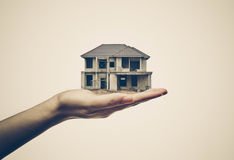 Buying a house. / Cheating done by Construction contractor concept Stock Photography