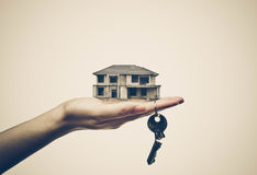 Buying a house. / Cheating done by Construction contractor concept Royalty Free Stock Photos