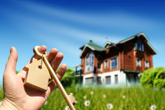 Buying house concept Royalty Free Stock Photos