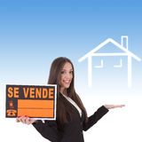 Buying house. Concept of buying house, business Royalty Free Stock Image