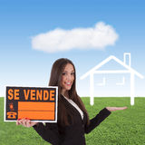 Buying house. Concept of buying house, business people Royalty Free Stock Photography