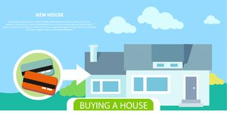 Buying house Royalty Free Stock Image