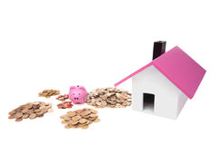 Buying a house. Saving money for buying a house Royalty Free Stock Image