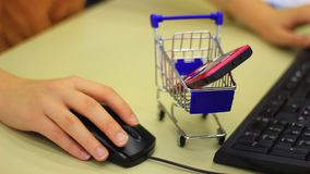 Buying on the Internet stock footage