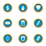 Buying love icons set, flat style. Buying love icons set. Flat set of 9 buying love vector icons for web isolated on white background royalty free illustration