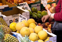 Buying at the market Stock Images