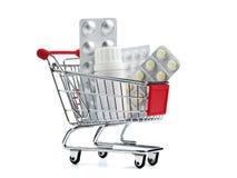 Buying medicine stock photography